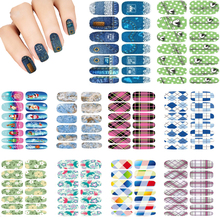 10pcs Set New Water Transfer Nail Sticker Foil Merry Christmas Fantacy Lights Halo Stars Nail Art Wraps Manicure Sticker Decals(China)