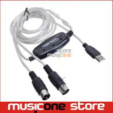 Free Shipping Promotion 2M Keyboard to PC USB MIDI Interface Adapter Cable b11 SV001681