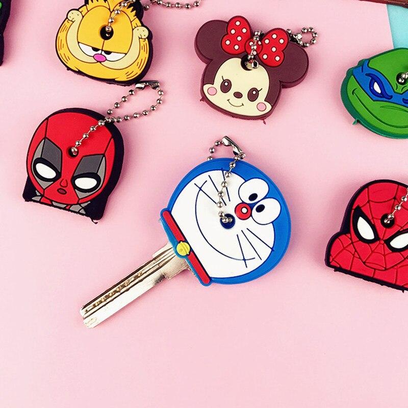 Key Holder Cartoon Silicone Protective key Case Cover For keys Cute Creative PVC Soft Keychain Ornament Pendant (2)