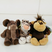 J239 Kawaii!! New Arrival Animal Cartoon Lion Monkey Tiger Deer Elephant Stuffed Doll Plush Toys Wholesale
