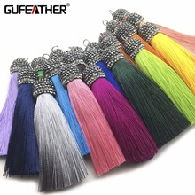 GUFEATHER L78/9CM/silk tassels/jewelry accessories/Drilling cap/diy jewelry/accessories making /Hand made/embellishments(China)