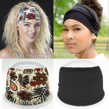 Bohemia Cotton Headband Boho Turban Headbands for Women Girls Flower Wide Elastic Hair Bands Bandana Headwrap Bandage Headwear(China)