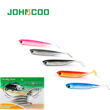 JOHNCOO Artificial Bait 6pcs Fishing Lures Soft Bait 70mm 2.1g Silicone Bass Minnow Bait Swimbaits Lure for Fishing Lures