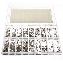 MTGATHER 900Pcs/Set Silver Stainless Steel Tiny Screws For Eye Glasses Watch Clock Repair Kit Tools Box Of Assorted Screws
