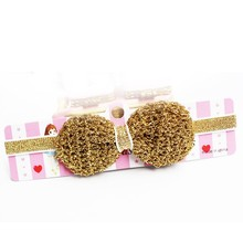 Children with essential baby hair ornaments set tide treasure bow stereo elastic hair band(China)