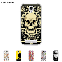 Fly IQ4404 Spark 4.5 inch Soft TPU Silicone Cellphone Case Mask Color Paint Protective DIY Cover Skin Bag Free Shipping(China)