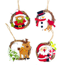 Christmas Tree Decorations Home Noel Santa Claus Snowman Elk Toy Hanging Pendant Home Party Ornaments Xmas Gifts