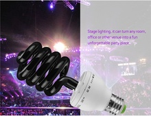 Led Light 220V 36W 40W E27 Ultraviolet UV Spiral Energy Saving BlackLight Lamp for Kill Insects In Room --M25