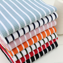 New arrival fashion striped cotton knitted fabric elastic stripe dress skirt making cotton fabric 50x125cm