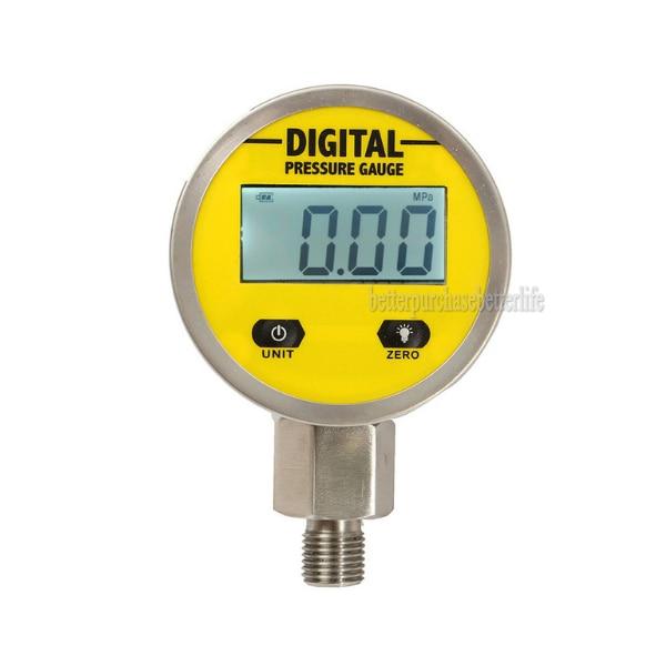 Digital Display Oil Pressure Hydraulic Gauge Pressure Test Meter 3V 0-250Bar/25Mpa NPT1/4 For Gas Water Oil Durable<br>