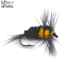 MNFT 10PCS 6# Yellow and Black Tail Bee Fly Trout Bass Perch Fly Fishing Lure Insect Imitation Artificial Bumble Bee Bait
