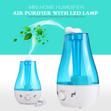 25W Tabletop Blue Water Bottle Mini Home Ultrasonic Humidifier Purifier with LED Lamp Air Freshener Diffuser