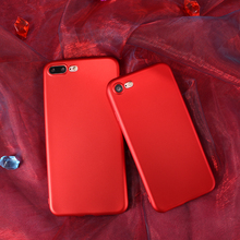 For Apple iphone 7 plus  silicone cover original phone case luxury China Red soft TPU case for iphone 7 plus 5.5 inch case 206