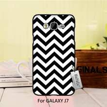 Top Detailed Popular Black Phone case For  J7 2015 case  Simple black and white striped visual effects