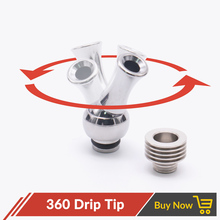 Volcanee Metal Rotating 360 Drip Tip with 510 Heat Sink Dissipation Insulation Slug for 510 eGo ecig Mouthpiece