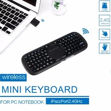 1pcs iPazzPort 2.4G Mini Wireless Keyboard for PC Android Smart TV Box LED Light(China)