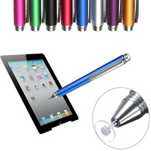 2016 Brand New 8 colors 12.5cm Fine Point Round Thin Tip Capacitive Stylus Pen For iPad 2/3/4/5/air/mini For Amazon Tablet(China)