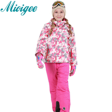 2017 New Children's Snow Ski Suits Baby Boys Girls Outdoor Wear Hooded Jackets+Bandage Pants Kids Winter Warm Sport Coat Sets(China)