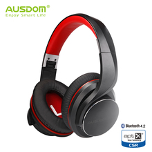 Ausdom AH3 aptX Low Latency Wireless Headphones Bluetooth 4.2 Over-Ear Foldable Bass Boosted Headset with Angled Driver No Press(China)