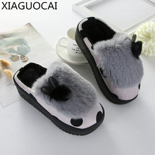 Buy 2017 Winter Girls cotton-padded Slippers warm plush soft shoes Non-slip home indoor wear lovely Home Floor Slippers shoes A94 10 for $13.48 in AliExpress store