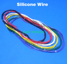 Free Shipping 24 AWG SR Wires 24AWG Silicone wire 24# silica gel wires AWG24 high temperature tinned copper cable