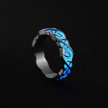New Chic Glow in The Dark Luminous Fluorescent Spiral Ring For Women Night Light Glowing Finger Rings Bar Party Jewelry