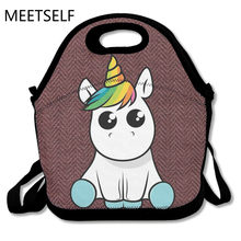 SAMCUSTOM Funny Unicorn 3D Print Lunch Bags Insulated Waterproof Food Girl Packages men and women Kids Babys Boys Handbags(China)