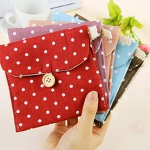 1Pcs Small Short Cotton Delicate New Convenience Women Ladies' Bag 5 Colors Storage Bag Great Hand Feel Clean(China)
