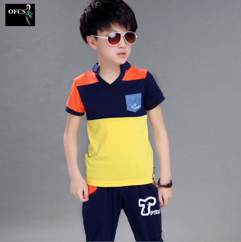2016 New Best-Selling Childrens Clothing , The Boys Summer Two-Piece Childrens  Suit (T-shirt + shorts)<br><br>Aliexpress