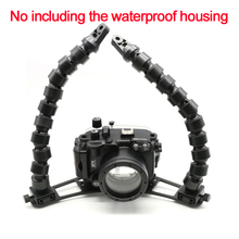 "Tokee Housing Underwater Diving Double 14"" 14inch 350mm Flex Arm System Bracket For Scuba Photography Light system Camera"