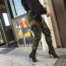 Unisex Camouflage Printed Pants Plus Size Autumn Army Cargo Pants Women/Men Trousers Military Elastic Waist Pants(China)