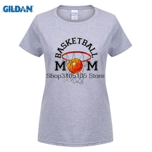 GILDAN women fashion brand t shirt 2017 Tops Summer Cool Funny T Shirt Crew Neck Women Short-Sleeve Office Basketballer Mom Tee(China)