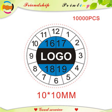 design and free shipping Fragile paper labels the warranty stickers time label label printing label custom 10*10MM
