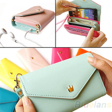 2013 New Womens Multifunctional Envelope Wallet Coin Purse Phone Case for iPhone 5/4S Galaxy S2/S3 02NO 4OGL(China)