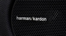 1 piece 3D Metal aluminum alloy Harman Kardon Speaker car stickers Emblem Decal car styling decoration auto accessories