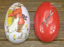 Easter decoration cabochons Fashion easter eggs tin candy storage box