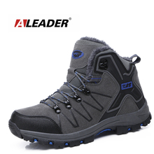 Buy ALEADER Winter Mens Work Boots Warm Comfortable Safety Shoes Non-slip Men Waterproof Work Shoes Fur Walking Snow Boots for $32.58 in AliExpress store