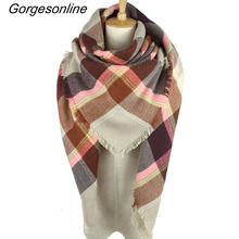 Hot!!! More Than 156 Colors Za Fashion new Design Spring Autumn Winter Women Plaid Wrap StoleS Blanket Scarf Shawl Poncho Pink