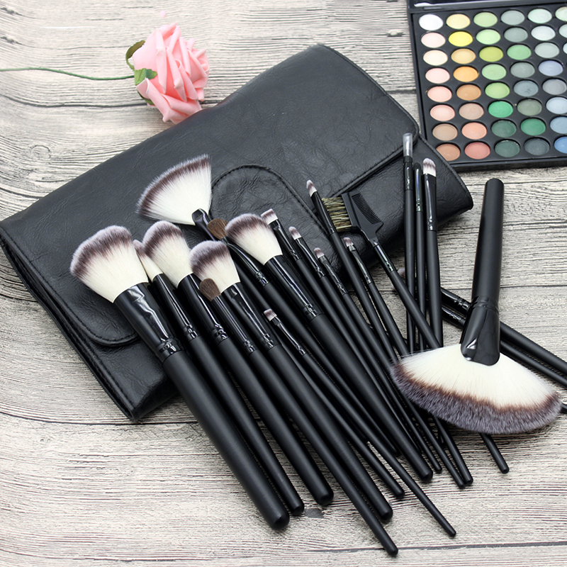 Professional 24pcs Makeup Brushes Kit Synthetic Foundation Eyeshadow Brush set Make up Tools with PU bag<br>