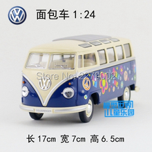 KINSMART Die-Cast Metal Model/1:24 Scale/1962 Volkswagen Classical Bus Special toy/Pull Back/for children's gift/Collection