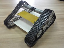 T150  Tank Car Chassis silvey for electronic design contest Wall-e robot car chassis Crawler Intelligent DIY  Track RC