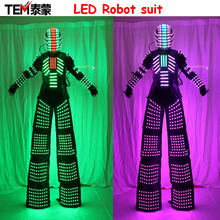 2017 New LED Costume LED Clothing Light suits LED Robot suits Luminous costume trajes de LED(China)