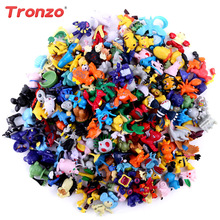 Tronzo DIY 3D Miniature Pokemon Ornaments Monster figure Anime Birthday Party Decorations Kids Gifts Random Delivery(China)