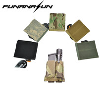 Tactical Molle QD Double Pistol Magazine Pouch Portable Flashlight Holster Airsoft Hunting Attachable Gun Mag Carrier Bag
