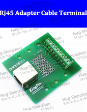 RJ45 BRK8P8CSJ  Breakout PCB Board Ethernet LAN interface to Terminal port adapter switch terminals without Din Rail