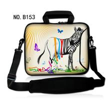 "Fashion Sexy Zebra Shoulder Case Cover Handle Bag Sleeve Pouch For 17.3"" 15.6"" 14"" 13.3"" 11.6"" 10.1"" Laptop PC"