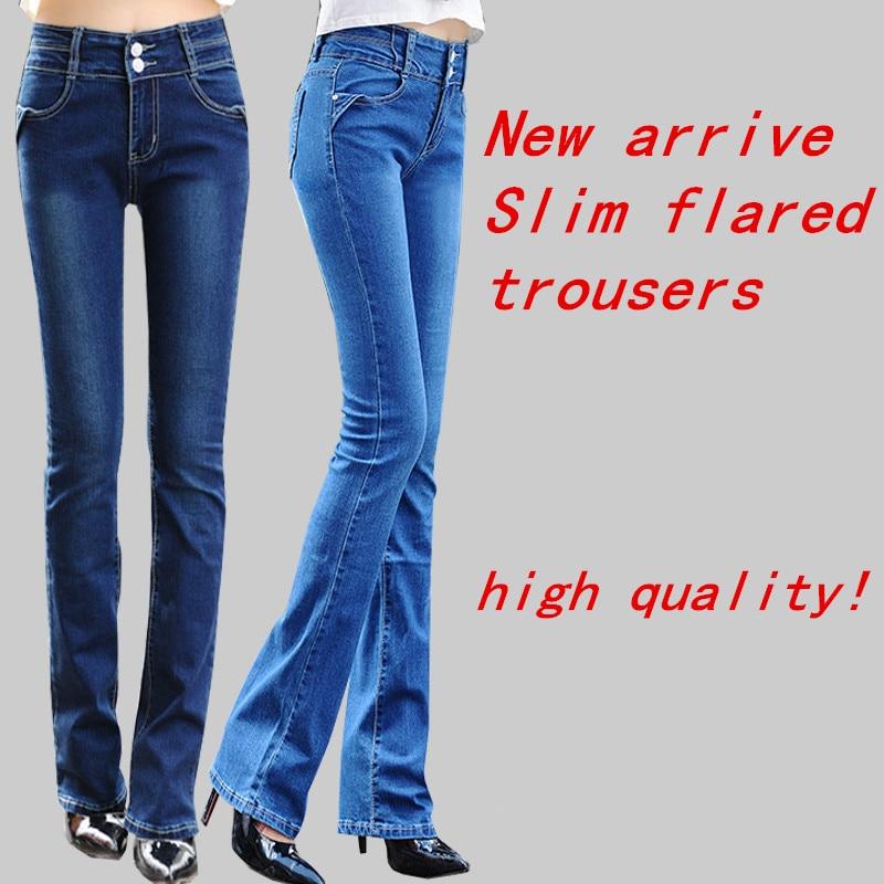 Women Elastic Waist Jeans Slim High Waist Was Thin Receive An Abdomen Comfortable Casual flares Pants women bell-bottomed pants1Одежда и ак�е��уары<br><br><br>Aliexpress
