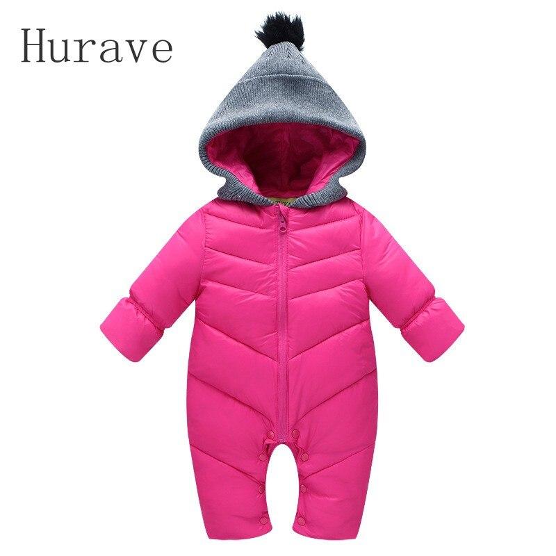 Hurave New 2017 Baby Boys Down Coat and Pant Coverall Baby Hooded Jacket Unisex 0-2 Baby Girls Windproof Winter Warm Down RomperÎäåæäà è àêñåññóàðû<br><br>