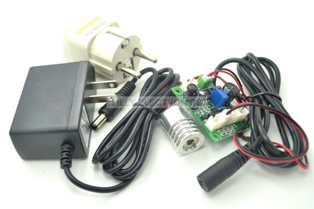 Industrial 12V 100mw 405nm Blue/Violet Light Laser Module w/TTL 18x25mm with US adapter<br>