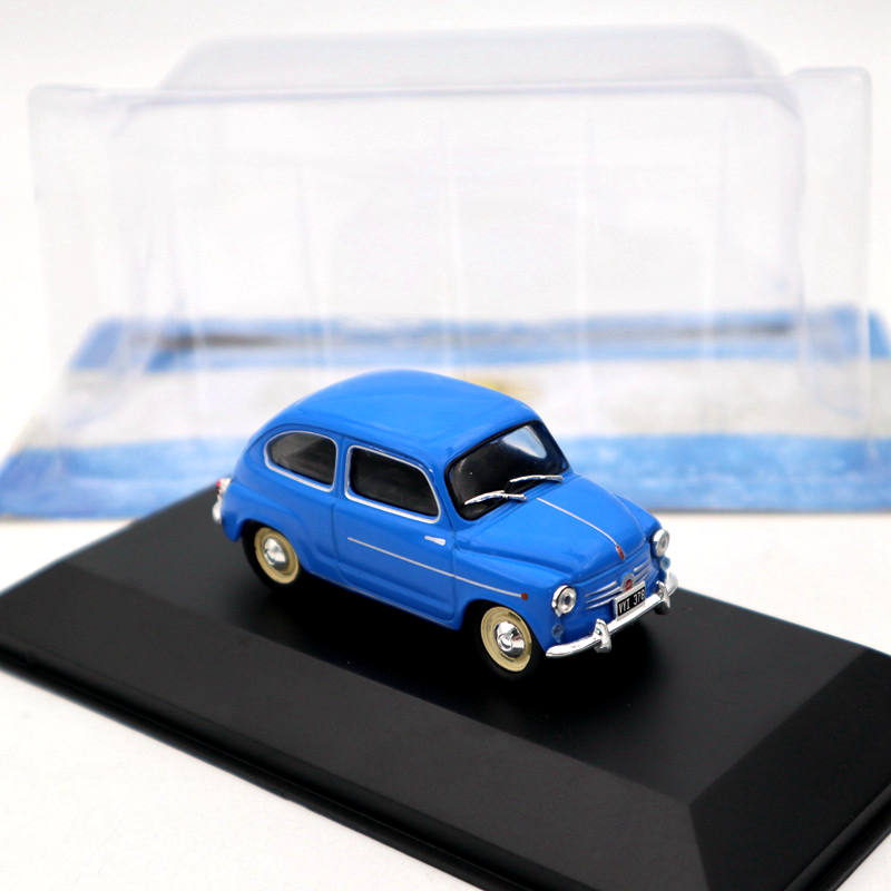 1:43 IXO Altaya Fiat 600D 1962 Blue Diecast Models Limited Edition Collection